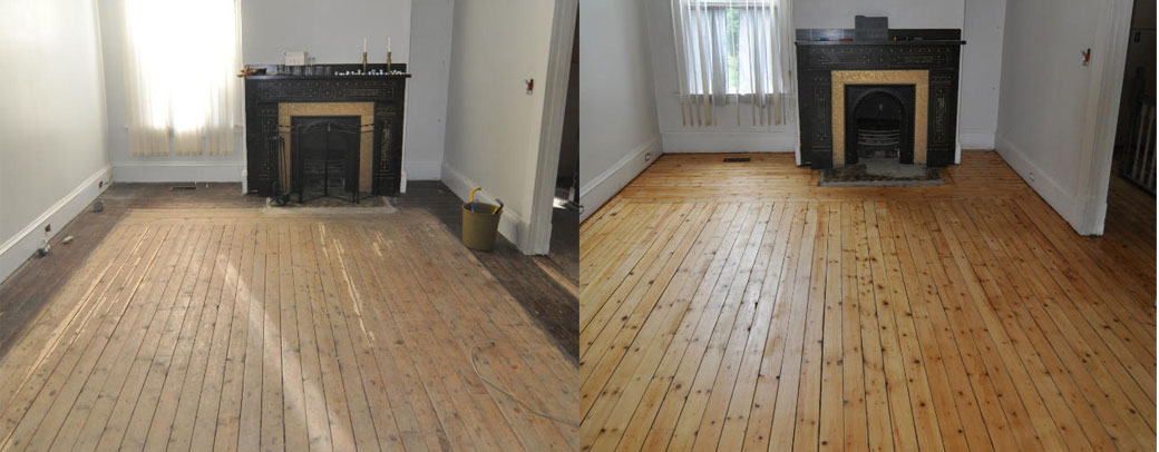 Expert sanding refinishing repair and restoration for Before and after flooring